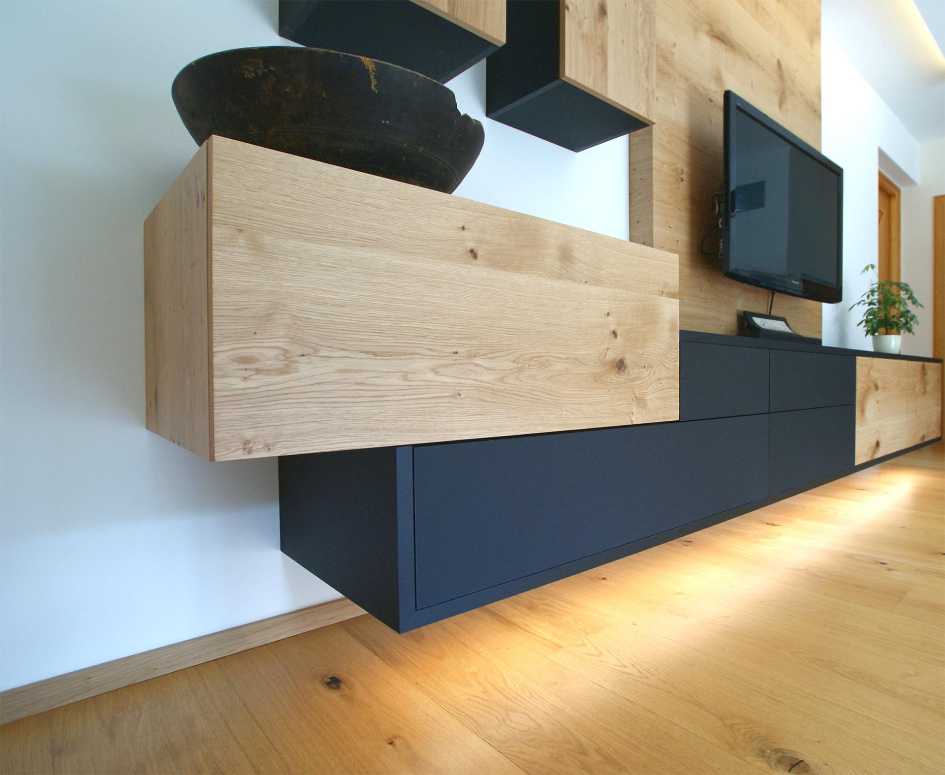 Wohnzimmer vom Tischler aus Tirol - Tischlerei Hafner